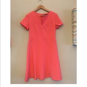 Banana Republic short sleeve a-line coral dress